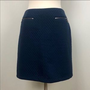 Laundry by Shelli Segal Quilted Blue Skirt